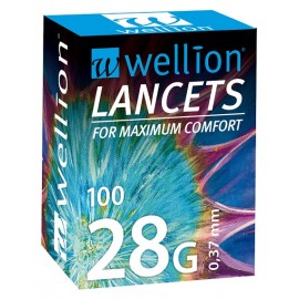 100 lancetas de punción Wellion 28G