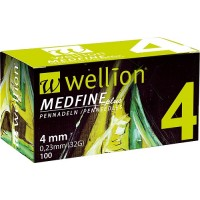 100 agujas Wellion Medfine 4 mm (32G x 0,23 mm)