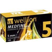 100 agujas Wellion Medfine 5 mm (31G x 0,25 mm)